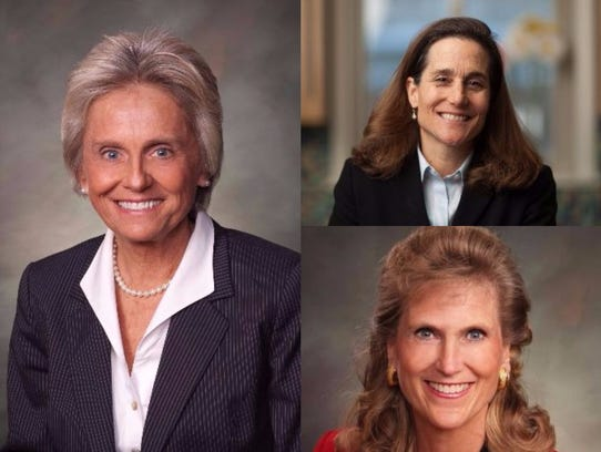 Clockwise, from left, state Reps. Joann Ginal, D-Fort