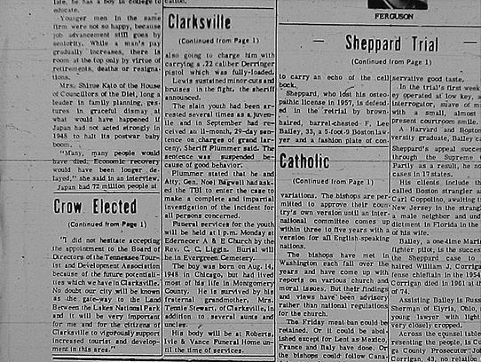 Leaf-Chronicle article on William Joseph Stewart's