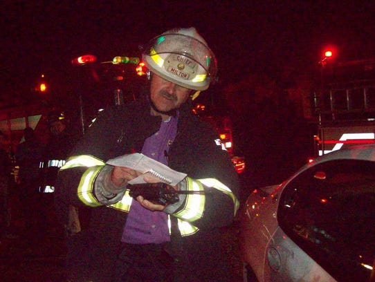 Former Milton Fire Chief Lynn Rogers at an accident