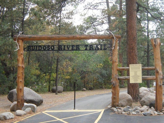 Easy access to the Ruidoso River Trail is through Two