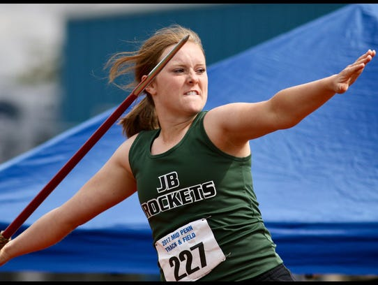 Jenna Mongold of James Buchanan finishes sixth with