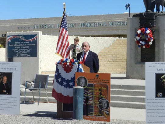Steve Brown, seen here speaking at a Memorial Day tribute