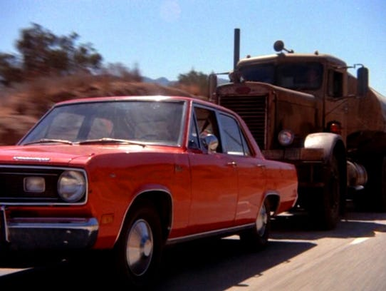 A scene from the 1971 Steven Spielberg film 'Duel,'