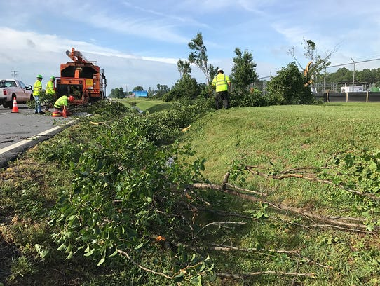 Damage at Courtesy of Delaware Electric Cooperative