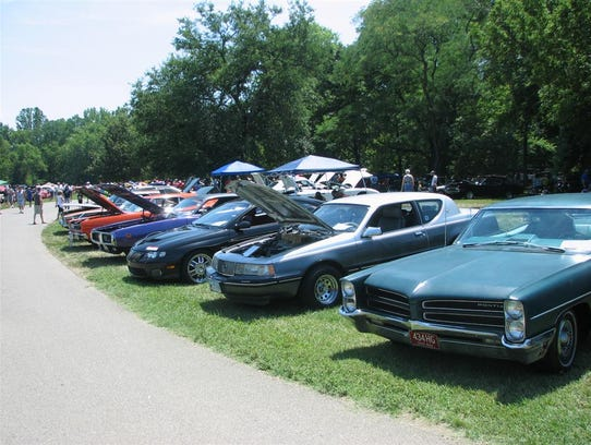 The annual Rollin' on the River charity car show typically