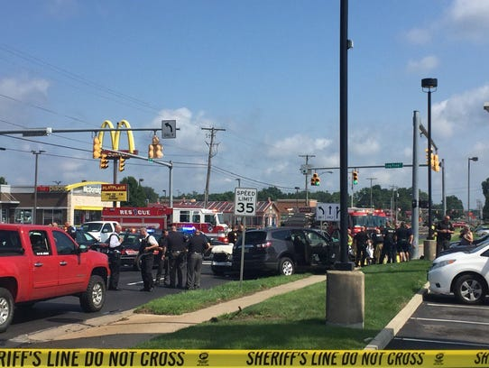 Law enforcement respond to reports of an active shooting