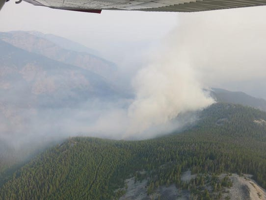 The Sheep Gap fire nine miles west of western Montana's