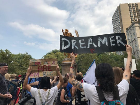 """Dreamers"" rally in New York City on  Sept. 5."