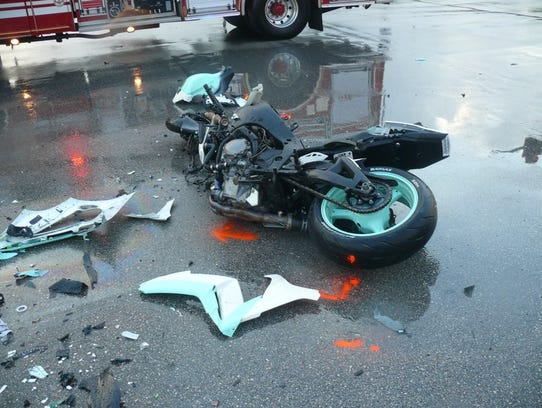 A motorcycle rider died Tuesday, Oct. 3, 2017 after