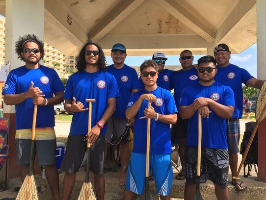 Members of the Saipan Paddling Club men's team.