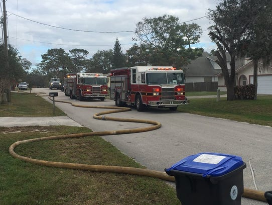 The Titusville Fire Department responded to a fire