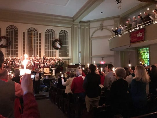 Carols and Candles 2016 service at First United Methodist