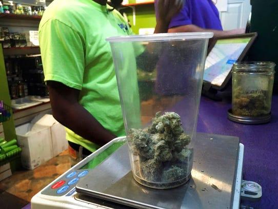 This Tuesday, Oct. 3, 2017, photo shows marijuana at