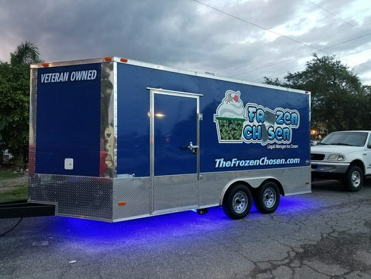 The Frozen Chosen liquid nitrogen ice cream trailer