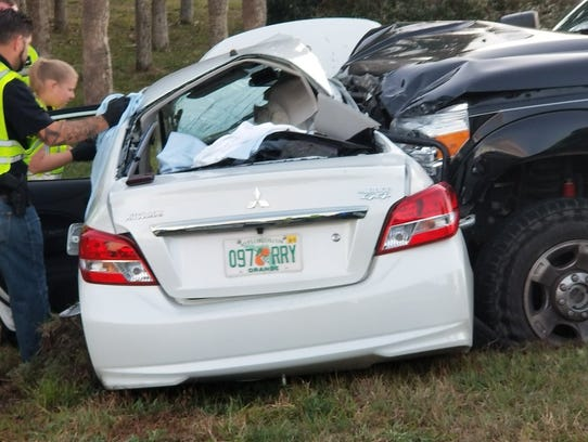 Police are investigating the crash in Titusville that