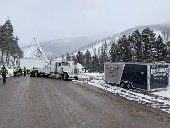 Both lanes were block on Montana 200 as Iron Horse