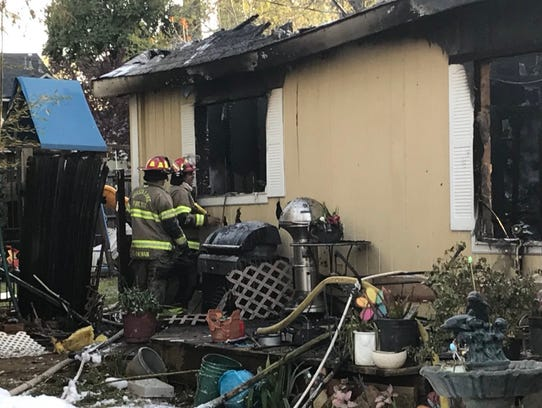 Firefighters haven't been able to inspect the entire