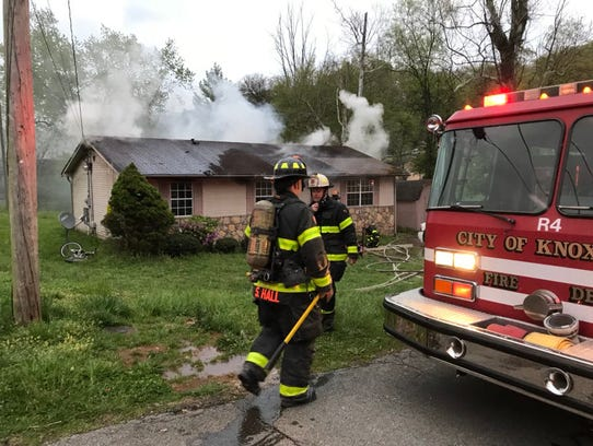Knoxville firefighters responded to reports of three