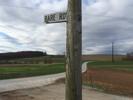 Furnace and Bare roads, Lower Chanceford Township,