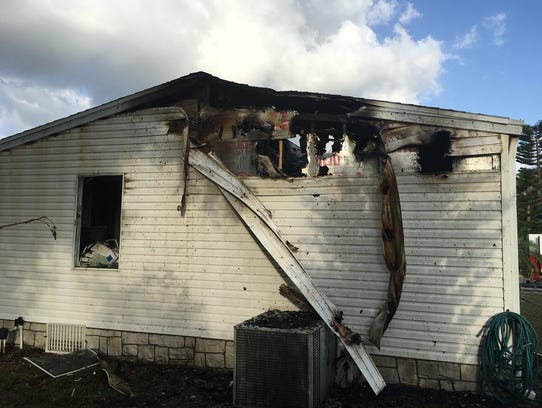 Firefighters were at the scene of a fire on Wren Circle