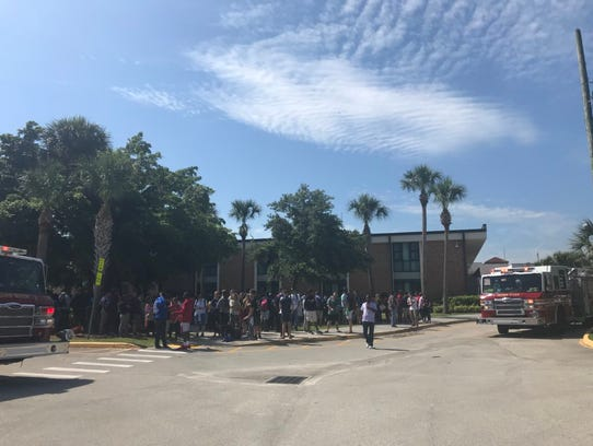 Vero Beach High School was evacuated after a report