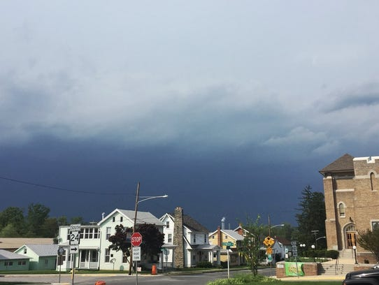 Northern York County is under a tornado warning on