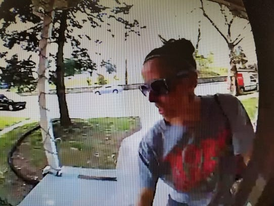 Police say Amanda Fuller stole a package from the front