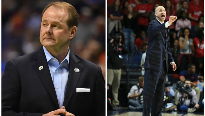 MTSU head coach Kermit Davis (left) and Ole Miss coach Andy Kennedy (right) will square off for the first time since 2013.