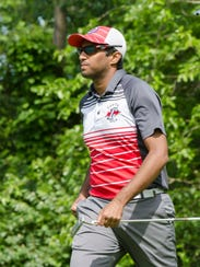 Canton senior Suhas Potluri finished with a 76 Wednesday