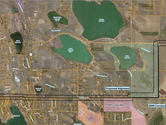 Thornton has proposed running a water pipeline within