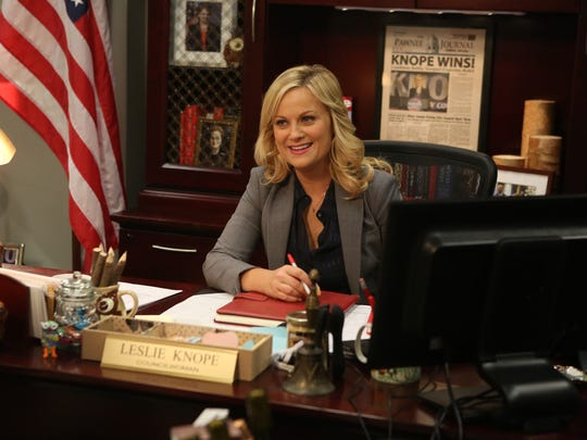"Amy Poehler in a scene from ""Parks & Recreation."""