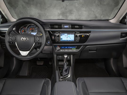 Toyota's updates to the Corolla S are more apparent on the interior.
