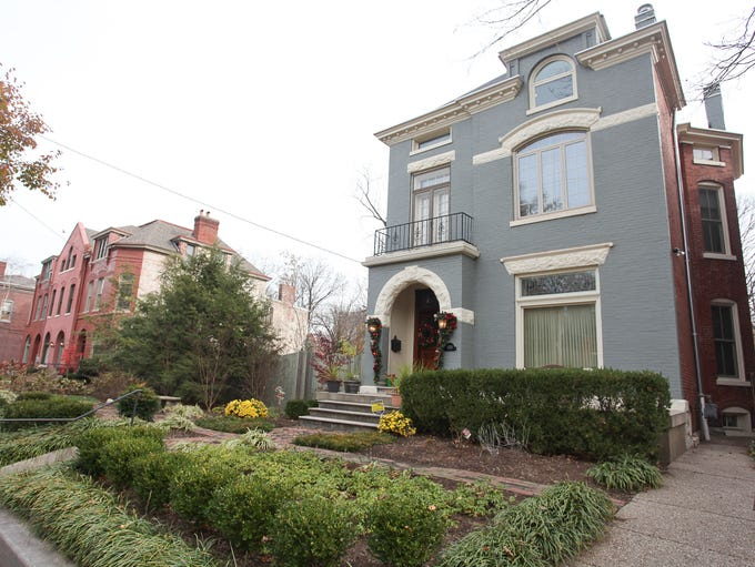 The exterior of the home of Dr. William and Mathieu Nunery in Louisville, KY. Nov. 21, 2013