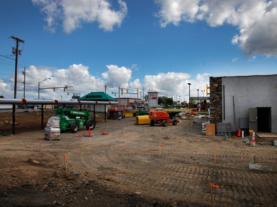 Construction at the new Sonic Drive-In in Irondequoit.