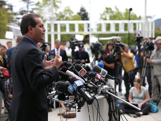 Marin County Sheriff Lt. Keith Boyd briefs media after autopsy of Robin Williams on Aug. 12 in San Rafael, Calif.
