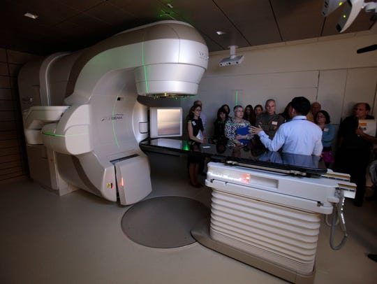 A linear accelerator is a radiation treatment machine that beams high-energy electrons into aprecise location in order to kill cancer cells.