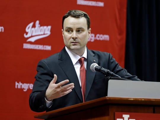 New Indiana coach Archie Miller answers questions during