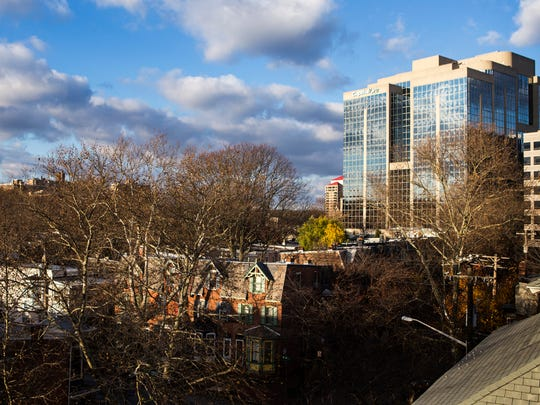 The Capital One building and Trinity Vicinity neighborhood