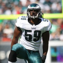 Eagles linebacker DeMeco Ryans suffered a groin injury during Sunday's win against the Rams.