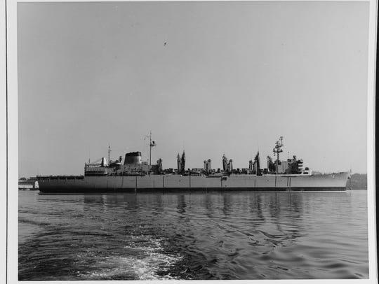 Moored at Puget Sound Naval Shipyard, 13 July 1970.