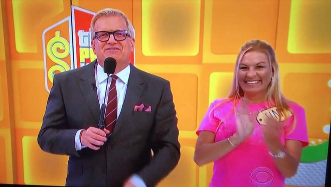 """Orange Grove's Aimee Wofford was chosen to play """"The Price is Right"""" during spring break 2017. She had taken a multi-state road trip with her son and his girlfriend before his high school graduation."""