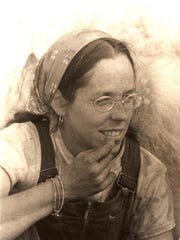 Barbara Nolfi, now of Burlington, when she was lived at the Earthworks commune in Franklin during the early 1970s.