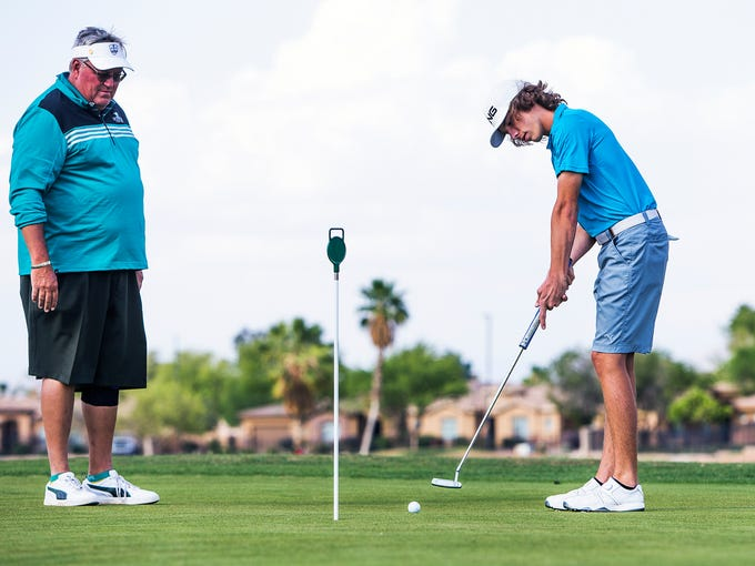 High school golfer Jarrett Fultz of American Leadership