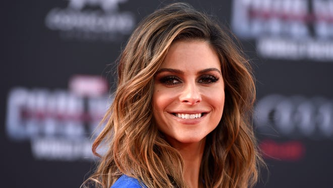 Maria Menounos arrives at the Los Angeles premiere of 'Captain America: Civil War' on April 12, 2016.