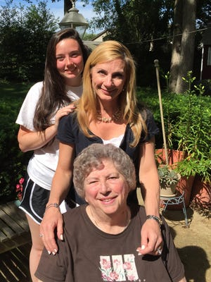 Vineland family marks fifth consecutive Vineland High School graduate at commencement on Wednesday. (From front) Joanne Ward Marghella, Class of 53; Jayne Marghella Burke, Class of 88, and Ciara McBride, Class of 2016