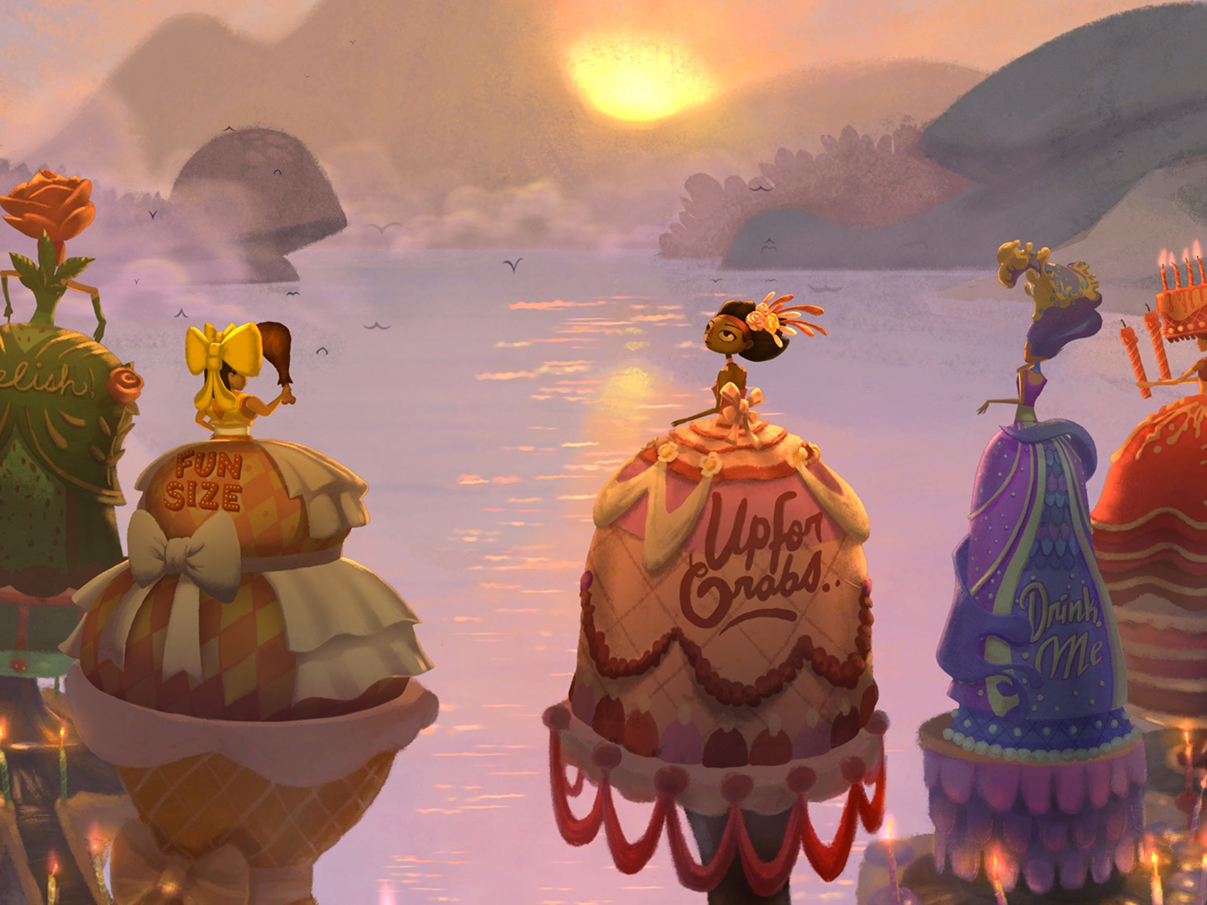"""""""Broken Age"""" features a colorful art style akin to a moving picture book."""