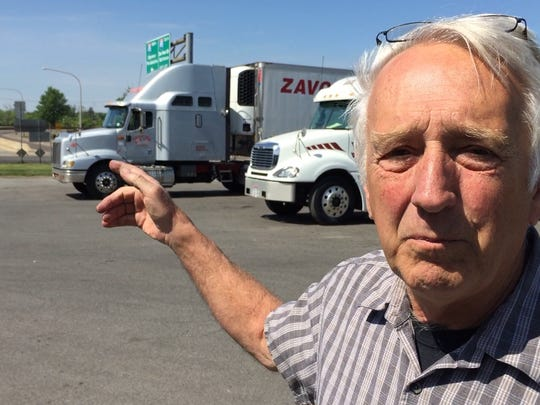 "Christiana Truck Stop owner Herbert Bollman at his business near the Port of Wilmington. Traffic was a ""disaster"" in the first days after the Interstate 495 bridge closure, he said. He lost a third or more of business."