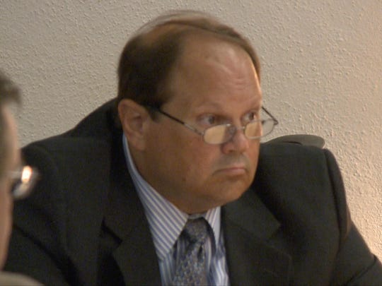 Eddie Tipton sits at the defense table during the first day of testimony in his fraud trial.