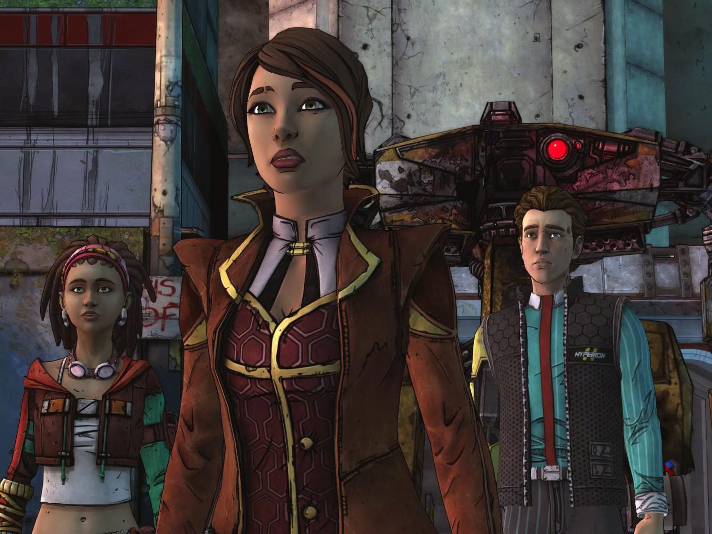"Pandora's ragtag band of misfits continue their quest for a vault in ""Tales From the Borderlands Episode 3: Catch a Ride."""