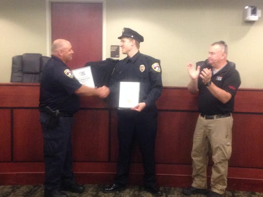 York City Officer Ben Praster is noted as the No. 1,916 save for Safariland Group's bulletproof vests.